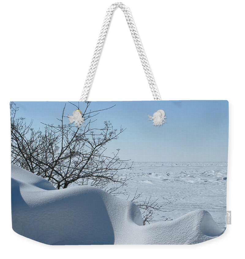 Winter Weekender Tote Bag featuring the photograph A Gentle Beauty by Ann Horn
