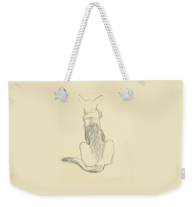 Animal Weekender Tote Bag featuring the digital art A German Shepherd by Carl Oscar August Erickson