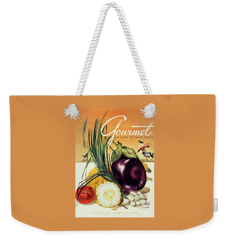 Food Weekender Tote Bag featuring the photograph A Gourmet Cover Of Vegetables by Henry Stahlhut