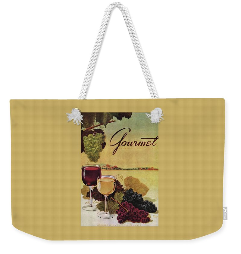 Exterior Weekender Tote Bag featuring the photograph A Gourmet Cover Of Wine by Henry Stahlhut