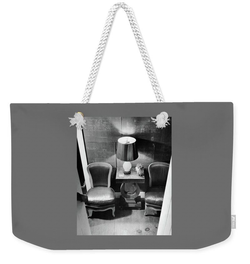 A Hallway With Blueprints Weekender Tote Bag