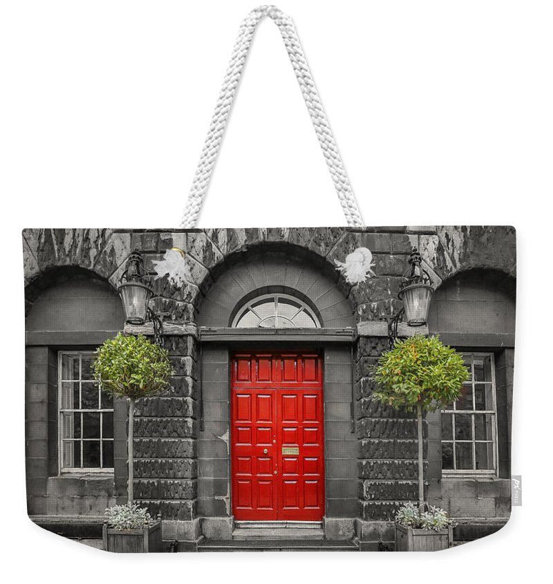 Dublin Weekender Tote Bag featuring the photograph A Heart Needs A Home by Evelina Kremsdorf