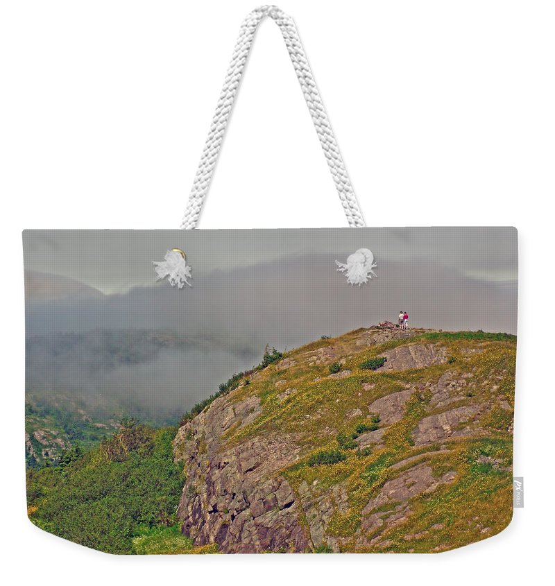 A High Point On Signal Hill National Historic Site In Saint John's Weekender Tote Bag featuring the photograph A High Point On Signal Hill National Historic Site In Saint John's-nl by Ruth Hager