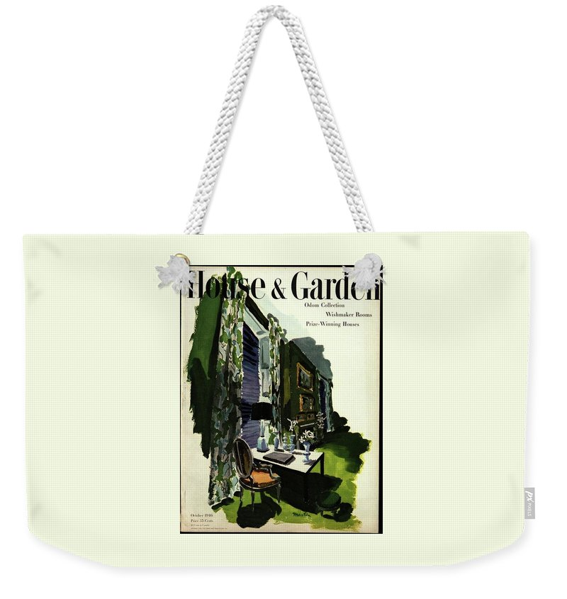 Illustration Weekender Tote Bag featuring the photograph A House And Garden Cover Of A Living Room by Tom Martin