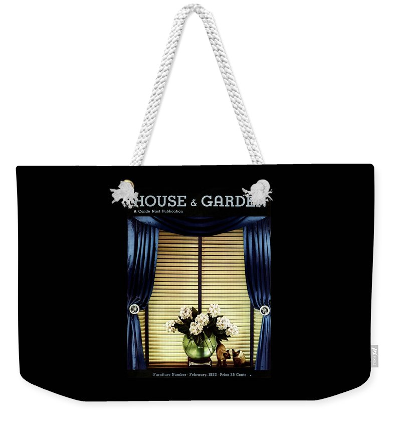 A House And Garden Cover Of Flowers By A Window Weekender Tote Bag