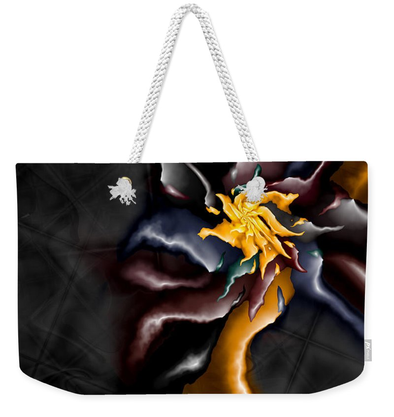 A Journey Within Weekender Tote Bag featuring the digital art A Journey Within by Kimberly Hansen