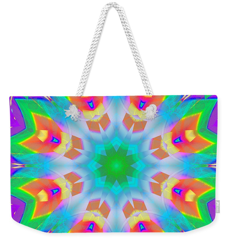 Bold Colors Weekender Tote Bag featuring the digital art A Kaleidoscope Of Wonder by Mario Carini
