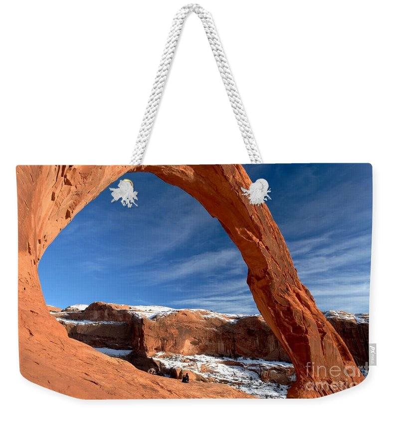 Coronoa Arch Weekender Tote Bag featuring the photograph A Large Corona by Adam Jewell