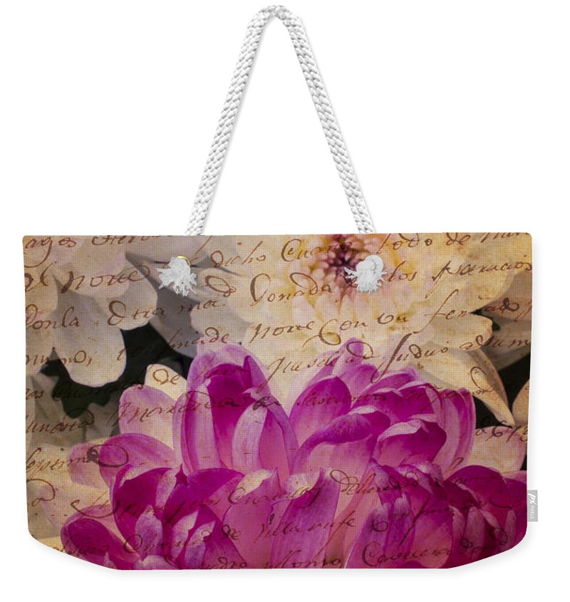 Pink Weekender Tote Bag featuring the photograph A Letter To The Mums by Garry Gay