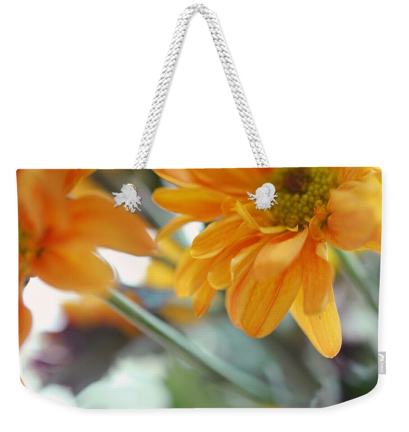 Chrysanthemum Weekender Tote Bag featuring the photograph A Little Bit Sun In The Cold Time I by Jenny Rainbow