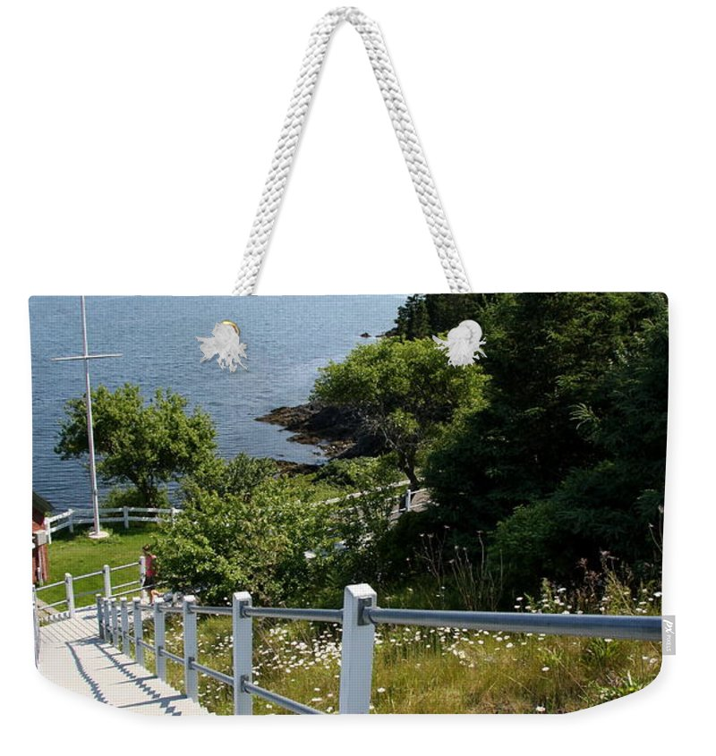 Stairs Weekender Tote Bag featuring the photograph A Long Way Down by Christiane Schulze Art And Photography