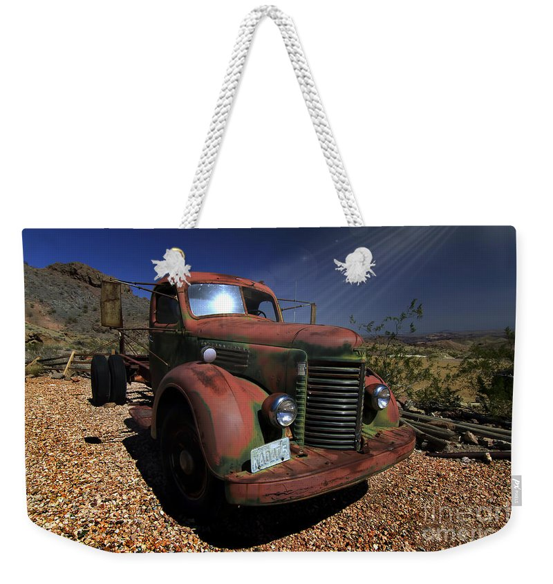 Trucks Weekender Tote Bag featuring the photograph A Mans Other Best Friend by Brenda Giasson