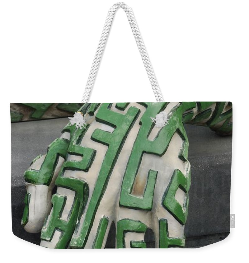 Maze Weekender Tote Bag featuring the photograph A Maze Ing Hand by Rob Hans