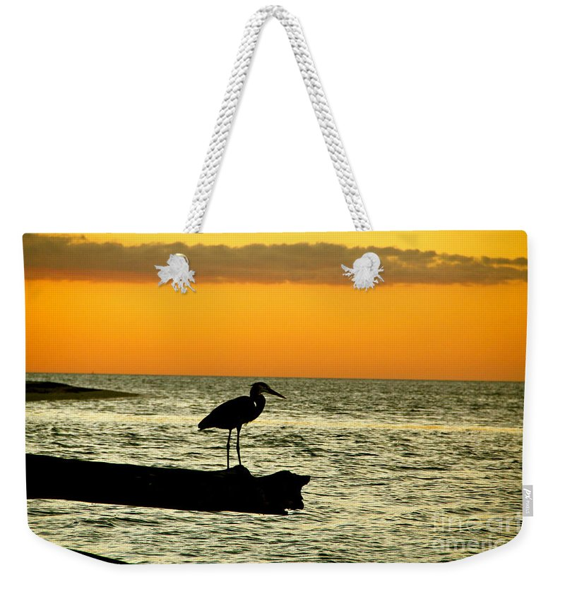 Sunset Weekender Tote Bag featuring the photograph A Moment In Time by Lib Sargent