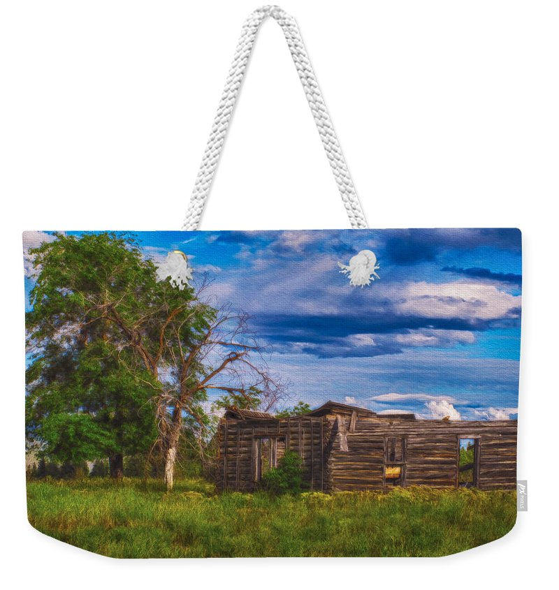 North Cascades Weekender Tote Bag featuring the painting A Moment In Time by Omaste Witkowski