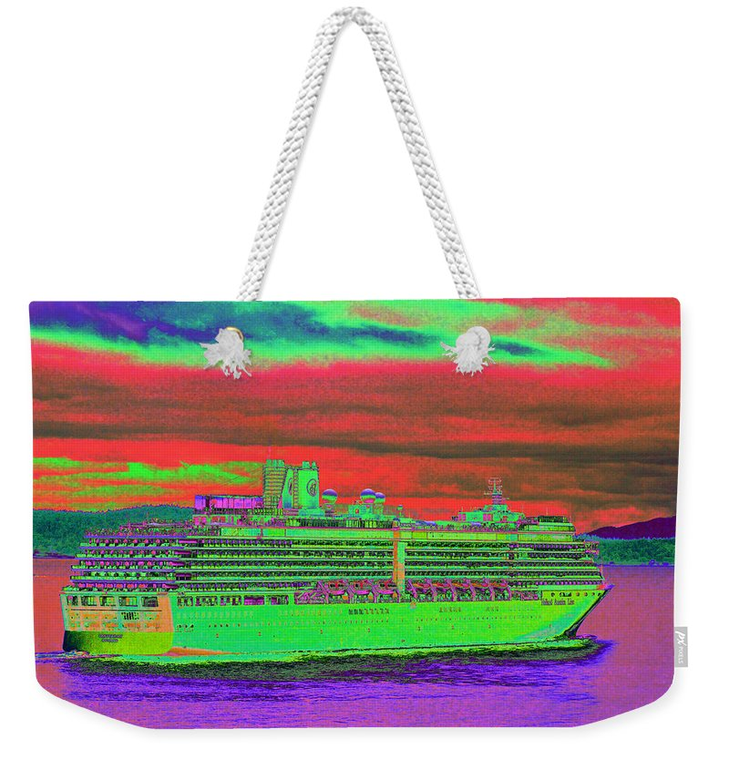 Holland America Weekender Tote Bag featuring the photograph A More Colorful HAL by Richard Henne