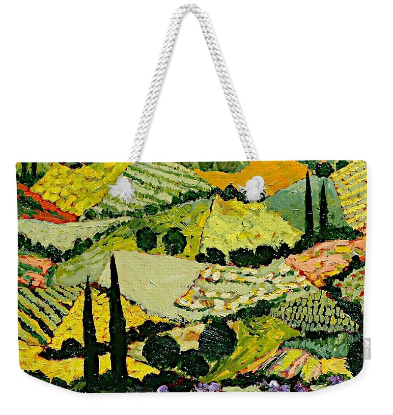 Landscape Weekender Tote Bag featuring the painting A New Season by Allan P Friedlander