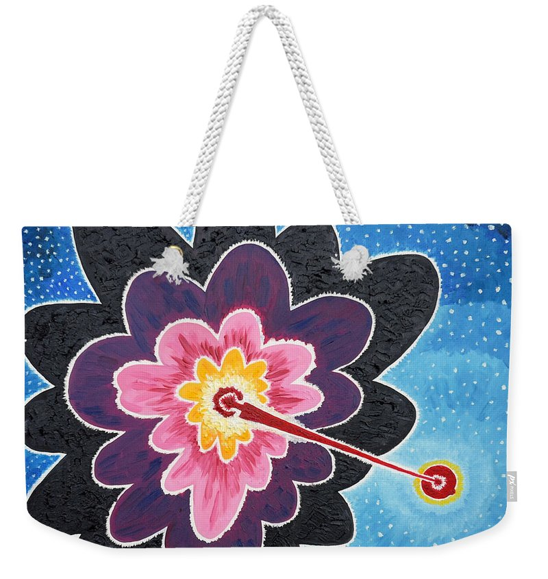 Star Weekender Tote Bag featuring the painting A New Star Is Born. by Taikan Nishimoto