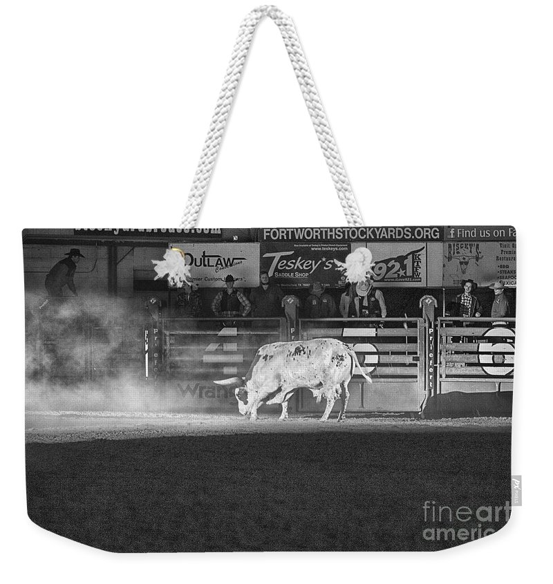 Night Weekender Tote Bag featuring the photograph A Night At The Rodeo V2 by Douglas Barnard