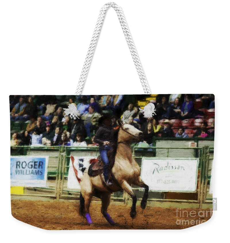 Night Weekender Tote Bag featuring the photograph A Night At The Rodeo V29 by Douglas Barnard