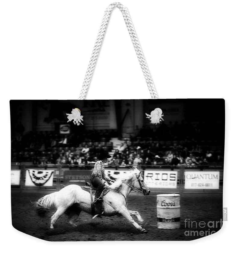 Night Weekender Tote Bag featuring the photograph A Night At The Rodeo V33 by Douglas Barnard