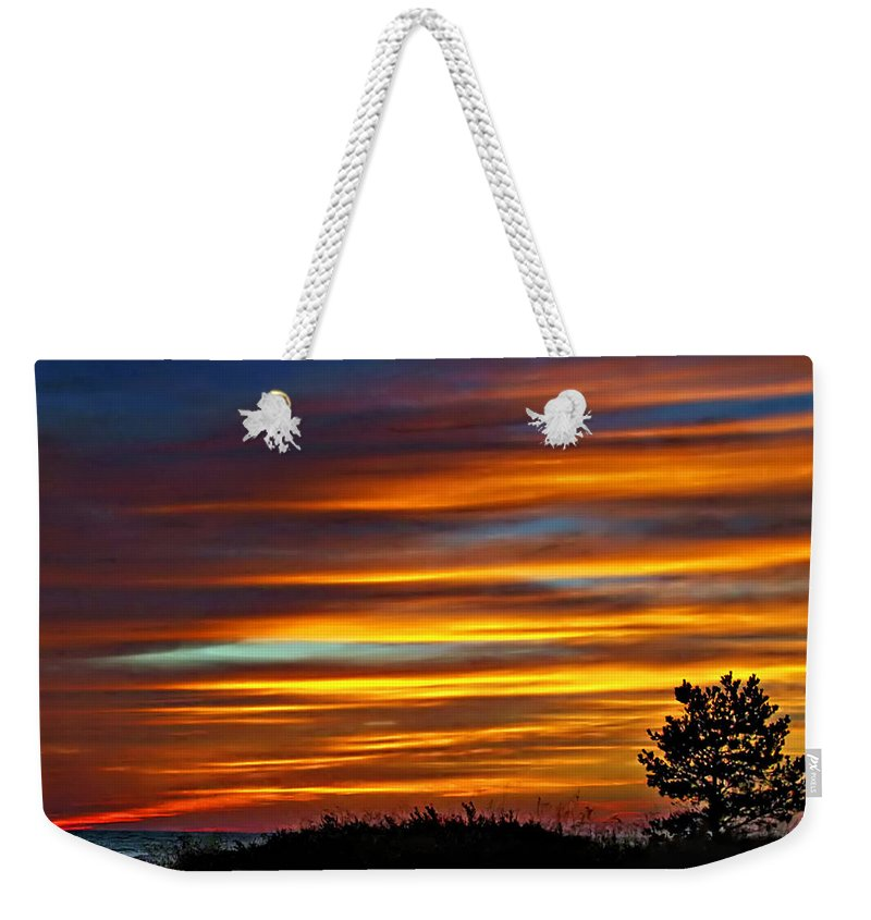 Sunset Weekender Tote Bag featuring the photograph A Night To Remember by Steve Harrington