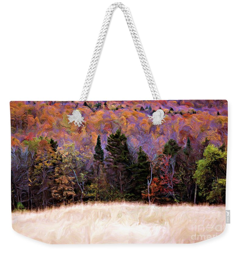 Painting Weekender Tote Bag featuring the photograph A Painting Autumn Field by Mike Nellums