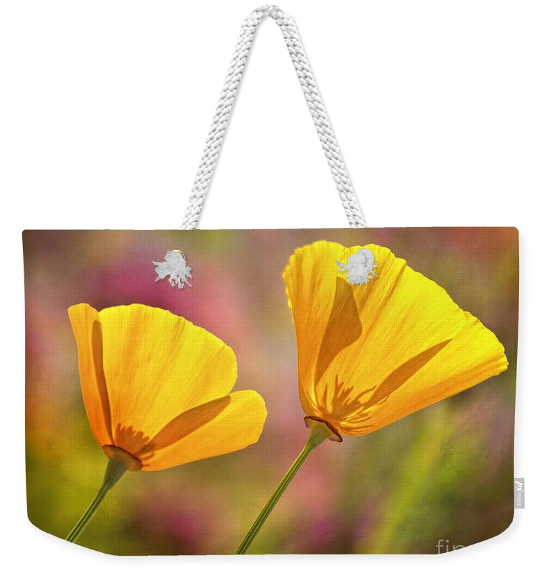 Flowers Weekender Tote Bag featuring the photograph A Pair by Claudia Kuhn