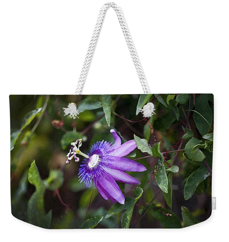 Passion Flower Weekender Tote Bag featuring the photograph A Passion For Flowers Db by Rich Franco
