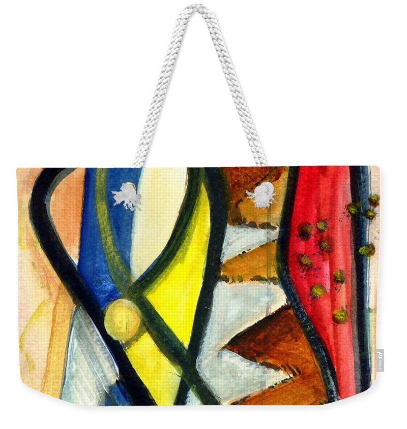 Abstract Art Weekender Tote Bag featuring the painting A Perfect Image by Stephen Lucas