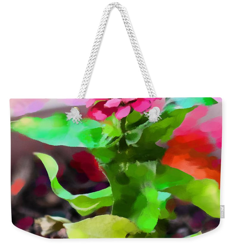 Gerbera Daisy Weekender Tote Bag featuring the photograph A Place In The Sun by Betty LaRue