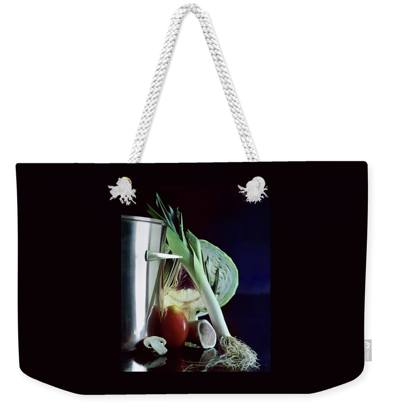 A Pot With Assorted Vegetables Weekender Tote Bag