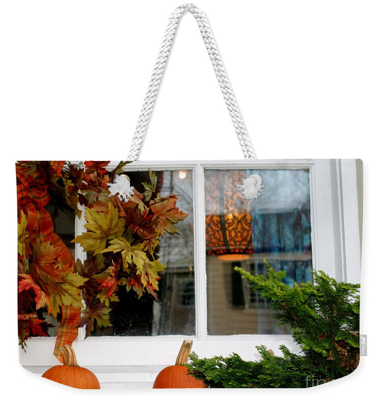 Window Weekender Tote Bag featuring the photograph A Pretty Autumn Window by Living Color Photography Lorraine Lynch