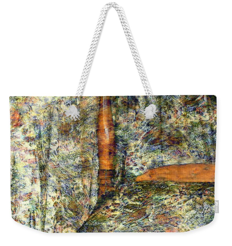 Antiques Weekender Tote Bag featuring the painting A Profusion Of Chintz by RC DeWinter