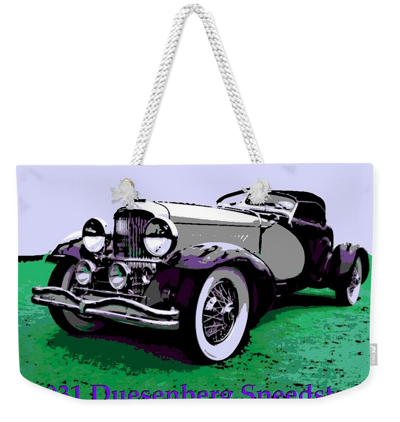 1931 Weekender Tote Bag featuring the photograph A Real Duesey by George Pedro