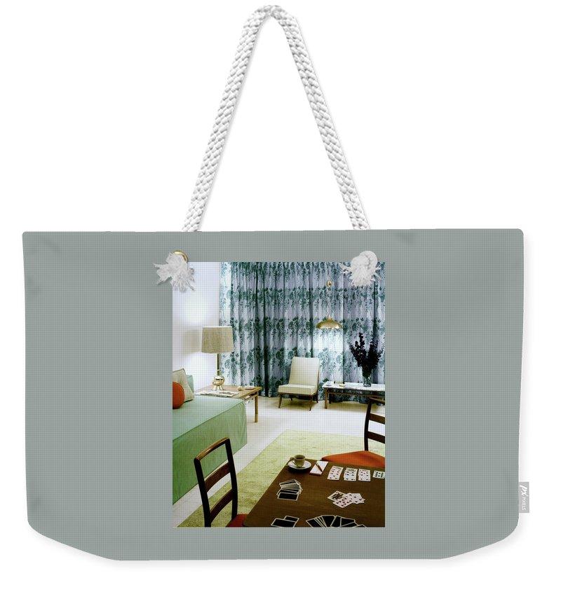 A Retro Bedroom Weekender Tote Bag