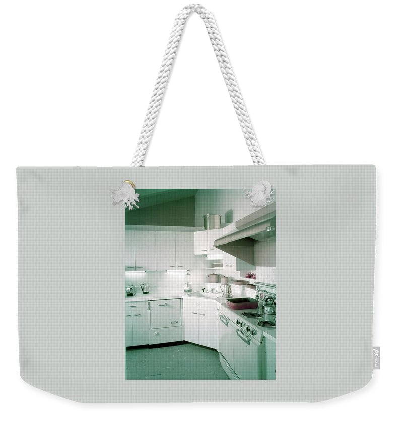Indoors Weekender Tote Bag featuring the photograph A Retro Kitchen by Haanel Cassidy