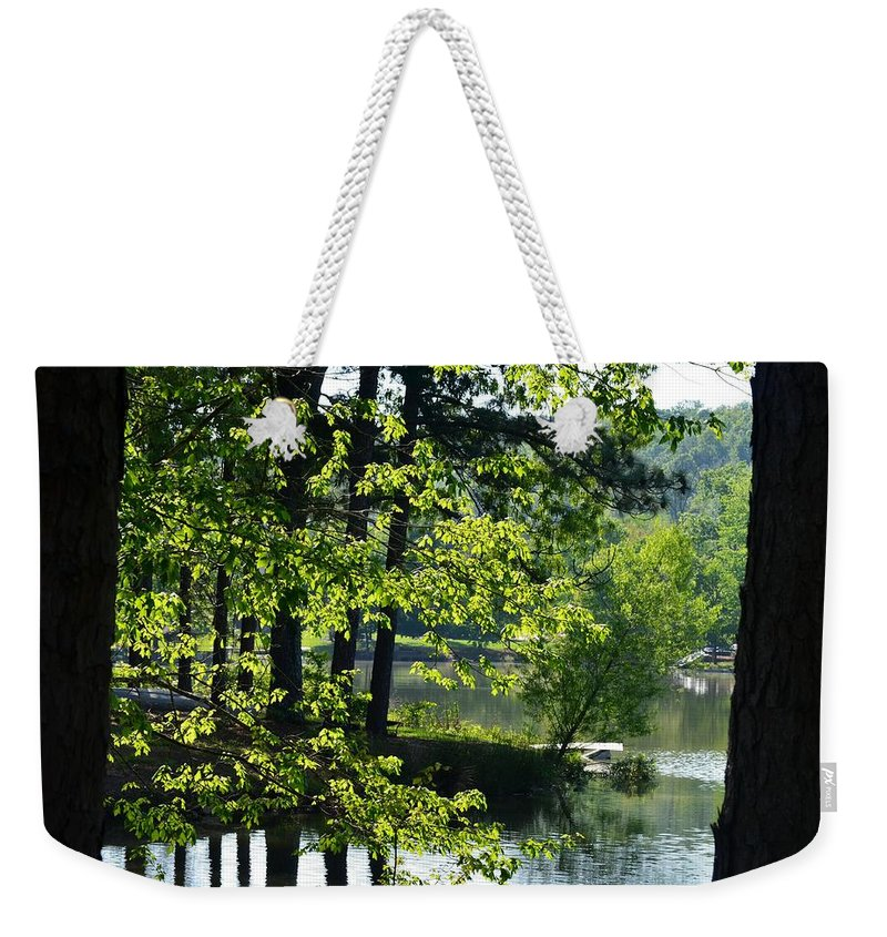Roadside Weekender Tote Bag featuring the photograph A Roadside View by Maria Urso