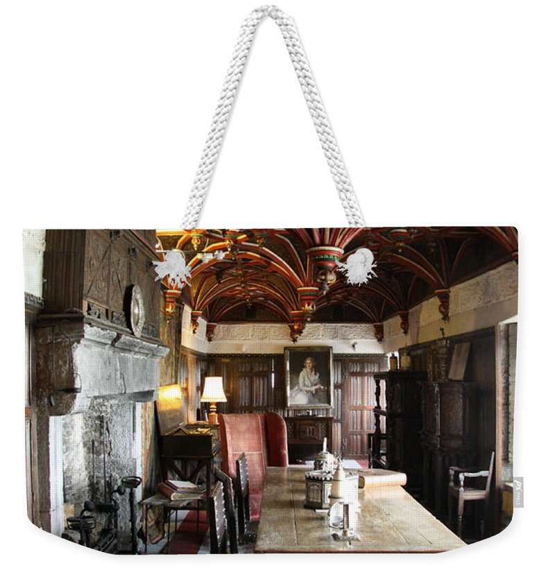 Room Weekender Tote Bag featuring the photograph A Room In Bunratty Castle by Christiane Schulze Art And Photography