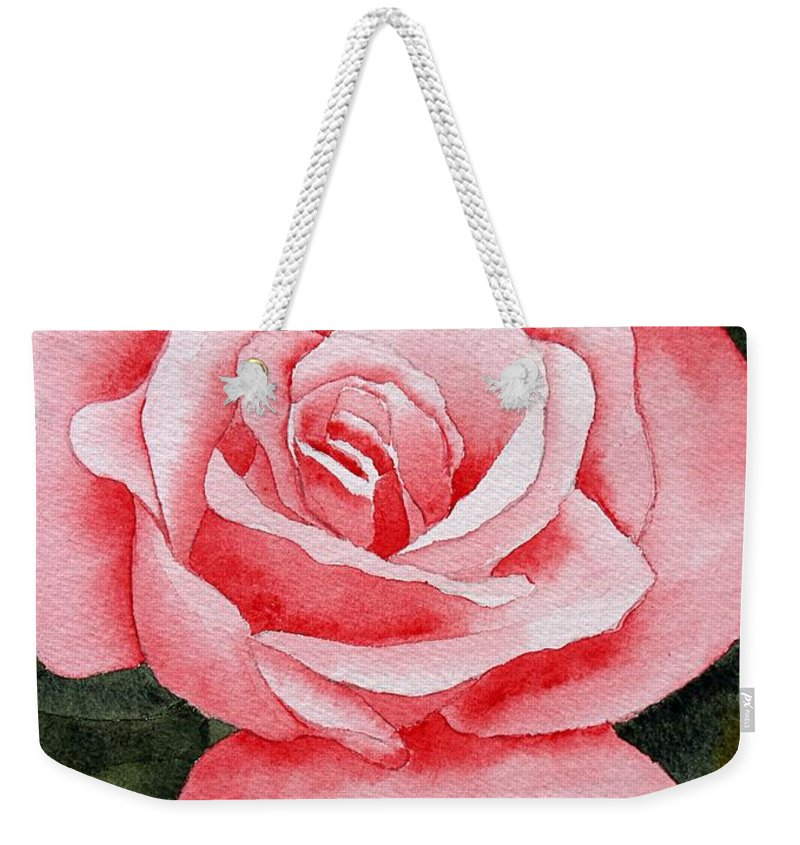 Watercolor Weekender Tote Bag featuring the painting A Rose By Any Other Name by Brett Winn