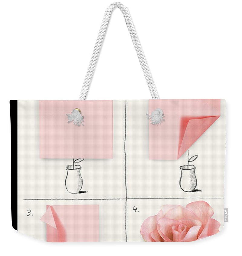 141588 Weekender Tote Bag featuring the painting A Rose by Christoph Niemann