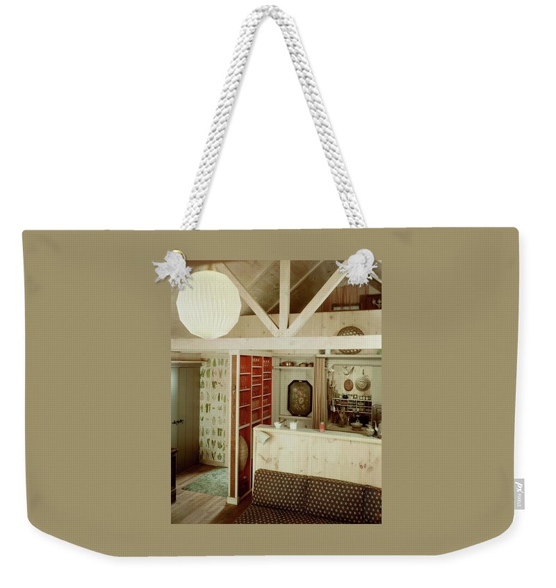 Home Weekender Tote Bag featuring the photograph A Rustic Kitchen by Haanel Cassidy