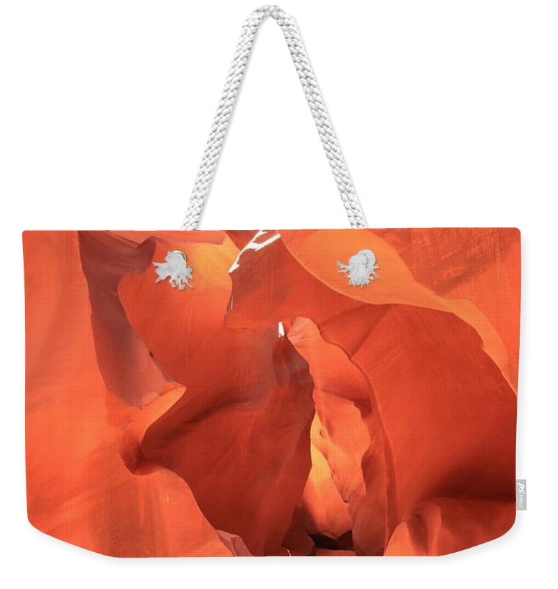 Arizona Slot Canyon Weekender Tote Bag featuring the photograph A Sculpted Walkway by Adam Jewell