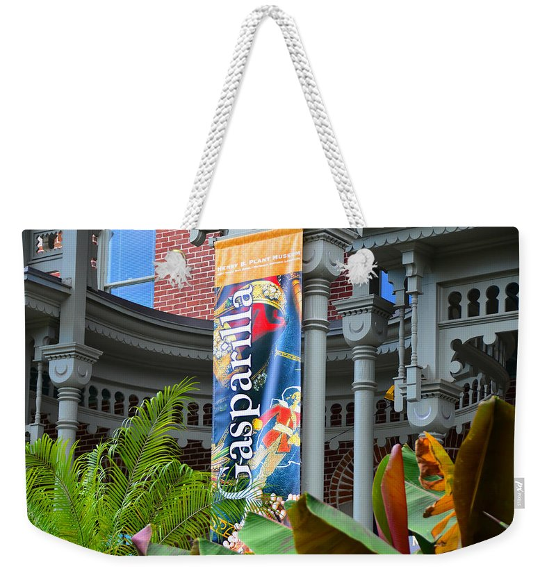 Gasparilla Pirate Fest Tampa Bay Florida Weekender Tote Bag featuring the photograph A Sign Of Gasparilla by David Lee Thompson