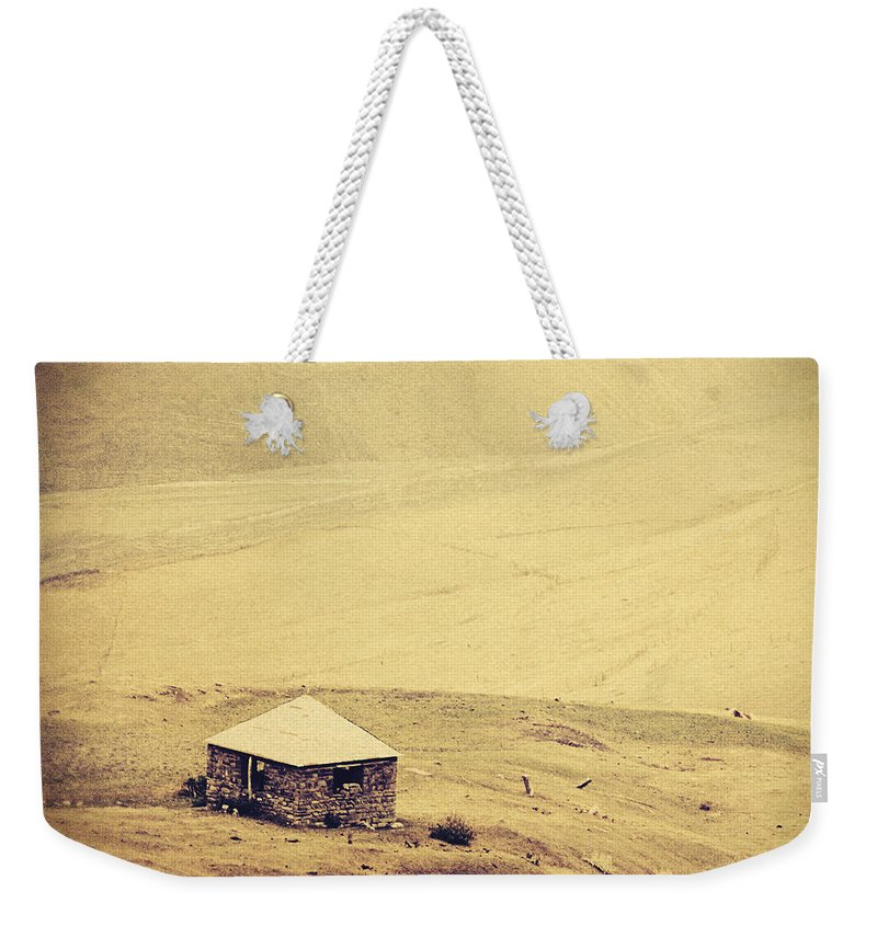 Azerbaijan Weekender Tote Bag featuring the photograph A Single House by Emily Kay