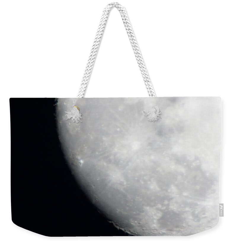 The Super Moon Weekender Tote Bag featuring the photograph A Southern Super Moon Shot by Kim Pate