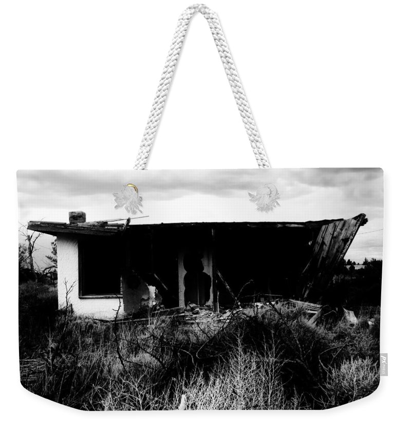 Black Weekender Tote Bag featuring the photograph A Story Ends by Jessica Shelton