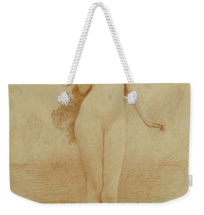 British Weekender Tote Bag featuring the drawing A Study For The Birth Of Love by Solomon Joseph Solomon