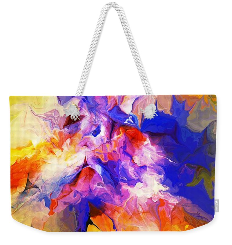 Fine Art Weekender Tote Bag featuring the digital art A Sunday Morning Doodle 051213 by David Lane