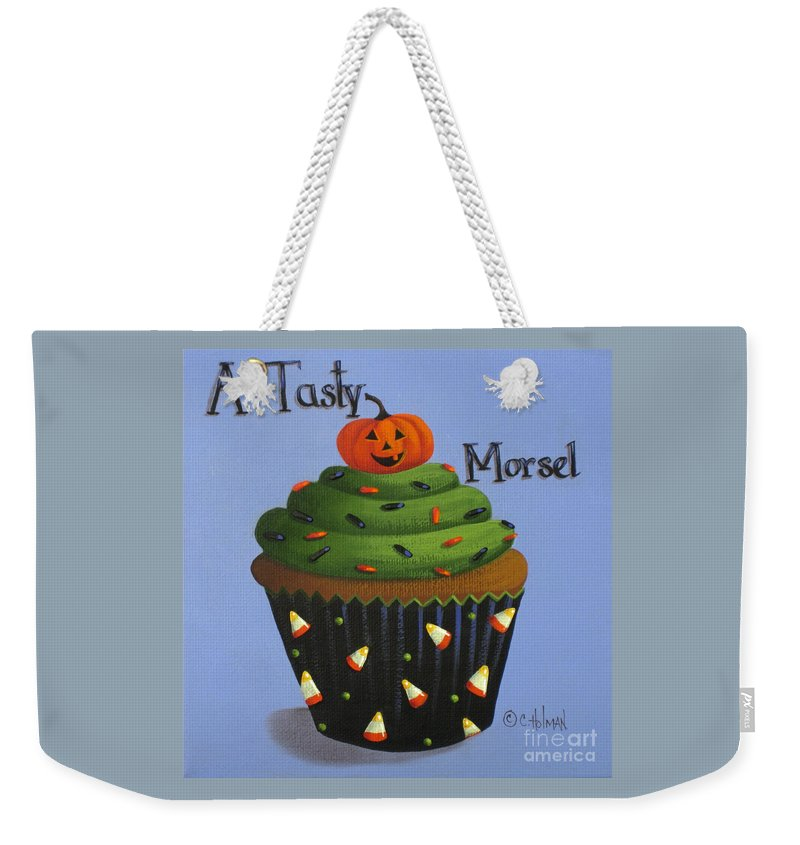 Art Weekender Tote Bag featuring the painting A Tasty Morsel by Catherine Holman